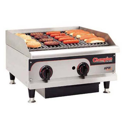 Buy APW Wyott GCRBH Champion Gas CharRock CharBroiler At Kirby - Apw wyott steam table