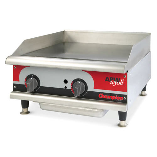 Buy APW Wyott GGMH Champion Griddle Gas Manual At Kirby - Apw wyott steam table