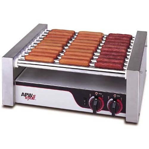 APW Wyott Flat HotRod Roller Grills - Chrome Surface Rollers HR-31