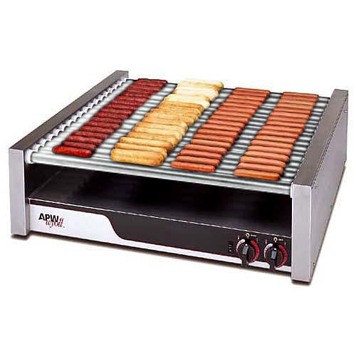 APW Wyott Super HotRod Flat Roller Grill - Chrome Surface Rollers HR-85