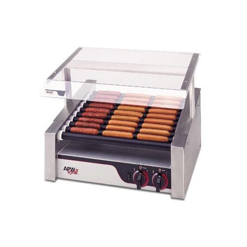 APW Wyott Slanted HotRod Roller Grills - Tru-Turn Surface Rollers HRS-20S
