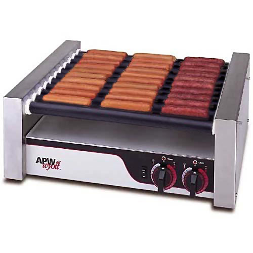 APW Wyott Flat HotRod Roller Grills - Tru-Turn Surface Rollers HRS-31
