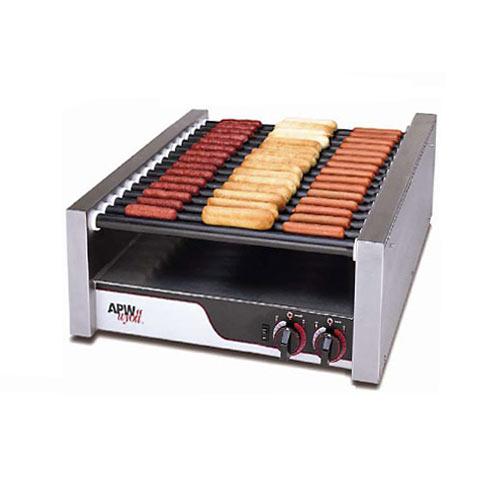 APW Wyott Super HotRod Flat Roller Grill - Tru-Turn Surface Rollers HRS-45