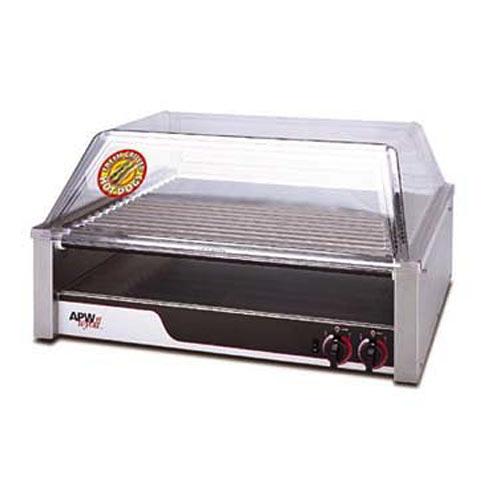 APW Wyott Flat HotRod Roller Grills - Tru-Turn Surface Rollers HRS-50