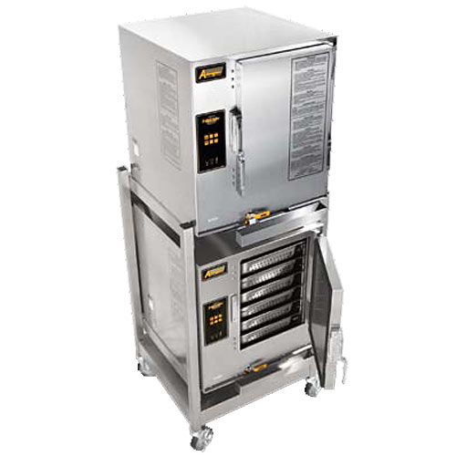Accutemp Evolution Stacked Electric Boilerless Convection Steamer - 12 Pan E62081E060 DBL