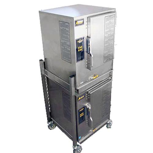 Accutemp Evolution Stacked Gas Boilerless Convection Steamer - 12 Pan N61201E060 DBL