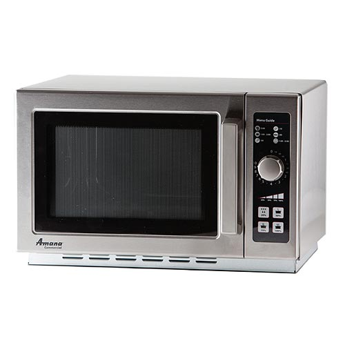 Amana Medium Volume Commercial Microwave -1000 Watt w/ Dial Timer RCS10DSE