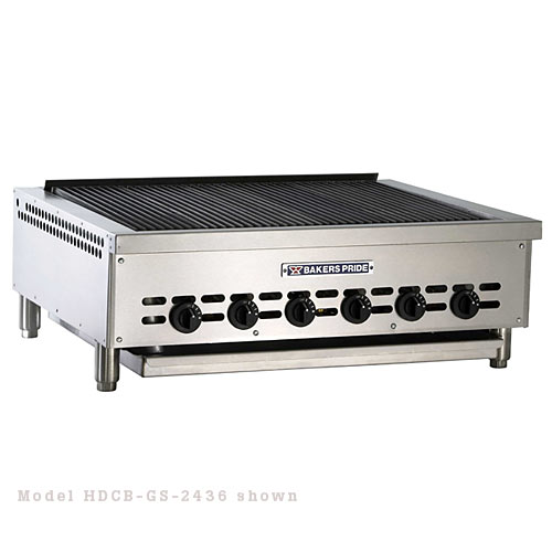 "Baker's Pride Heavy Duty Countertop Glo Stone Charbroiler  - 24"" BPHCRB-2424I"