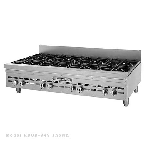 Baker's Pride Heavy Duty Gas Countertop Open 6 Burner Range HDOB-636