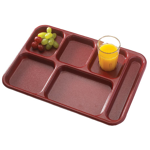 Cambro Camwear School Compartment Tray -  Sherwood Green 10146CW119