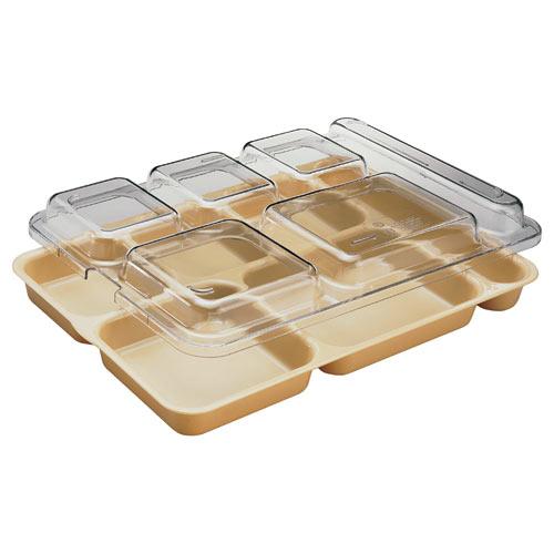 Cambro Camwear Separator Compartment Tray -  Beige 10146DCW133