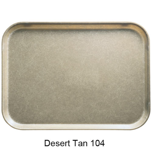 "Cambro Low Profile Rectangular Camtray - 4 15/16"" x 6 15/16"" Desert Tan 57104"
