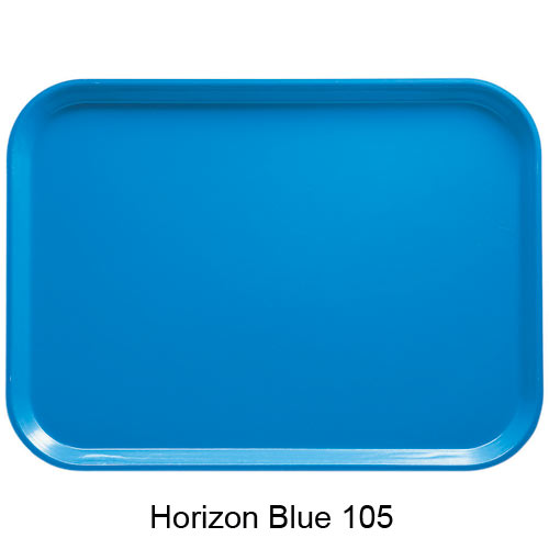 "Cambro Low Profile Rectangular Camtray - 4 15/16"" x 6 15/16"" Horizon Blue 57105 1"