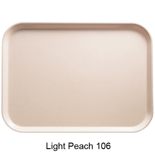 "Cambro Dietary Tray - 12"" x 16"" Light Peach 1216D106 2"