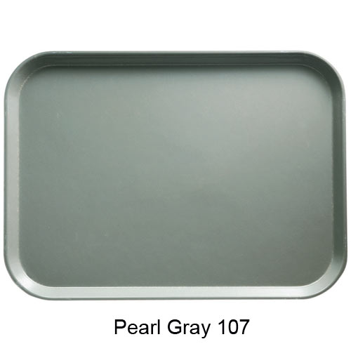 "Cambro Rectangular Camtray - 12 5/8"" x 17 3/4"" x 1 1/16"" Pearl Gray 1318107"
