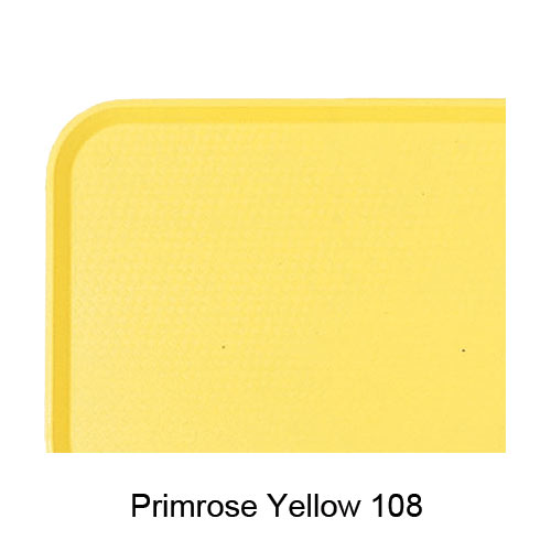 "Cambro Fast Food Tray - 10 7/16"" x 13 9/16"" Primrose Yellow 1014FF108"