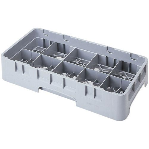 "Cambro Camrack® Half Size 10 Cup Rack - 2 5/8"" H Soft Gray 10HC258151"