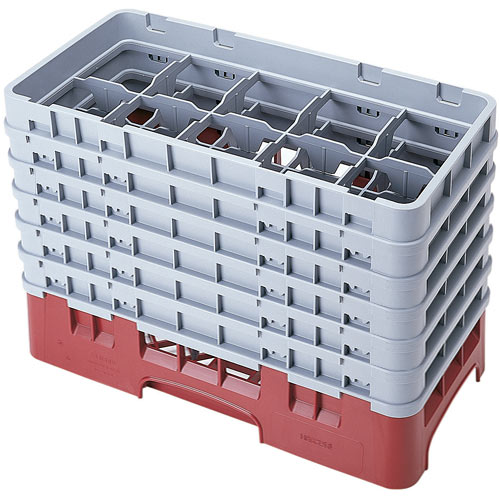 "Cambro Half Size Camrack Glass Rack - 10 Compartment - 11 3/4"" H 10HS1114"
