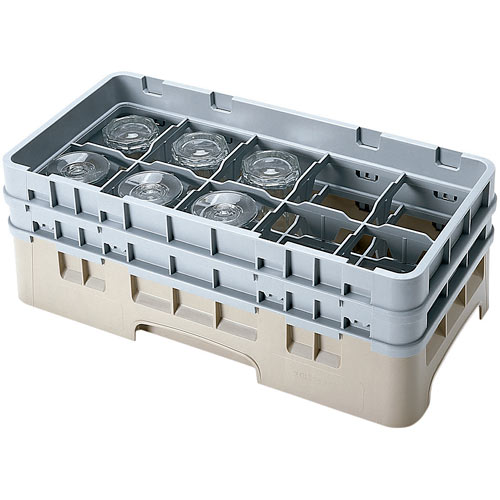 "Cambro Half Size Camrack Glass Rack - 10 Compartment - 5 1/4"" H 10HS434"