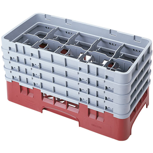 "Cambro Half Size Camrack Glass Rack - 10 Compartment - 8 1/2"" H 10HS800"