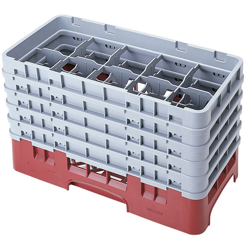 "Cambro Half Size Camrack Glass Rack - 10 Compartment - 10 1/8"" H 10HS958"