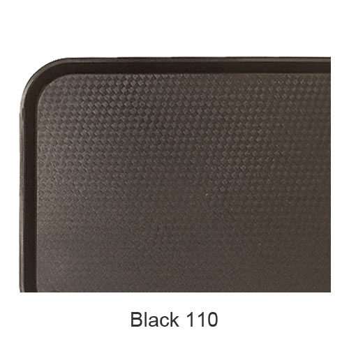 "Cambro Fast Food Tray - 10 7/16"" x 13 9/16"" Black 1014FF110"