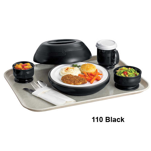Cambro Shoreline Collection 9 oz. Large Bowl -  Black MDSB9110 2