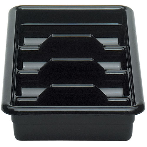 Cambro Poly Cambox® 4 Compartment Cutlery Box  - Black 1120CBP110