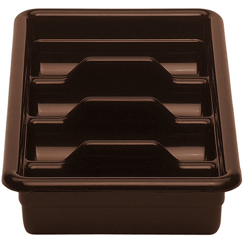 Cambro Poly Cambox® 4 Compartment Cutlery Box  - Dark Brown 1120CBP131