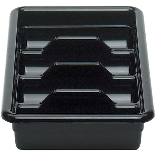 Cambro Regal Cambox® 4 Compartment Cutlery Box  - Black 1120CBR110