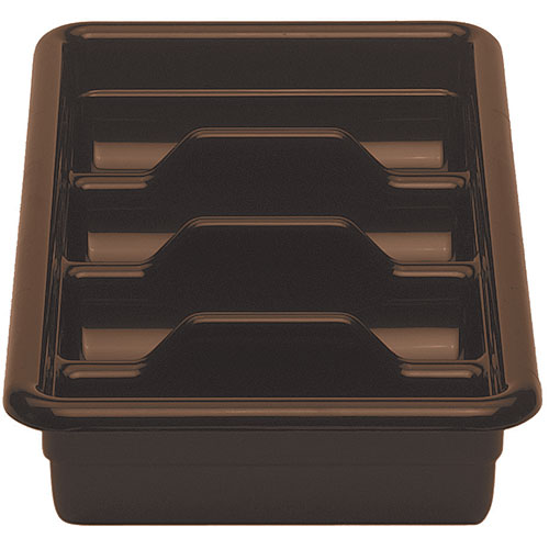 Cambro Regal Cambox® 4 Compartment Cutlery Box  - Dark Brown 1120CBR131