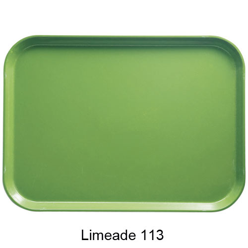 "Cambro Rectangular Camtray - 10 5/8"" x 13 3/4"" Lime-ade 1014113"