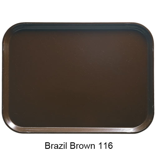 "Cambro Oval Camtray - 22"" x 26 7/8"" Brazil Brown 2700116 2"