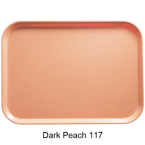 "Cambro Round Camtray - 16"" Dark Peach 1600117 2"