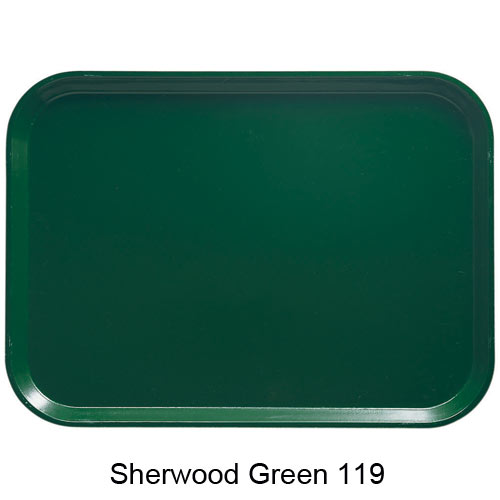 "Cambro Low Profile Rectangular Camtray - 8"" x 9 7/8"" Sherwood Green 810119"