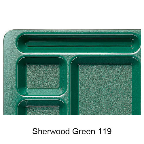Cambro Camwear School Compartment 2 X 2 Tray -  Sherwood Green 1596CW119 2