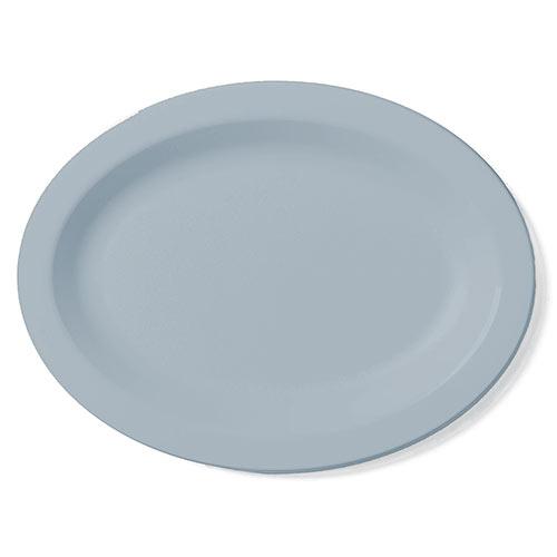 "Cambro Camwear® Polycarbonate Narrow Rim Platter 12"" x 9"" - Slate Blue 120CWP401"