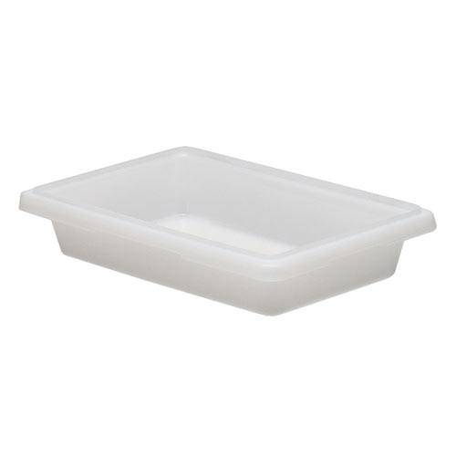Cambro Half Size Camwear Food Box - 1 3/4 gal White  12183P148