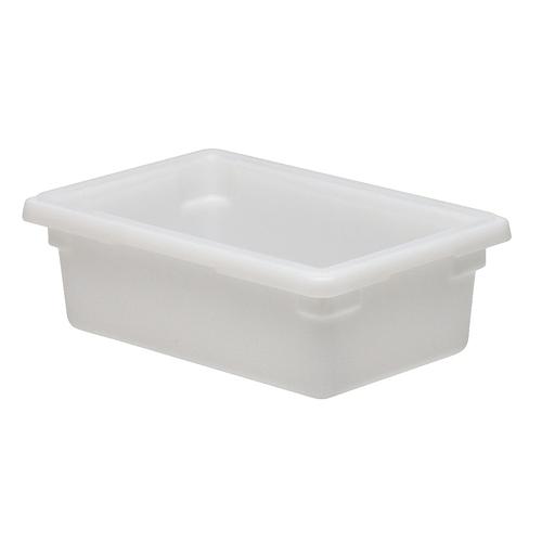 Cambro Half Size Camwear Food Box - 3 gal White  12186P148