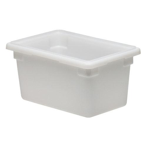 Cambro Half Size Camwear Food Box - 4 3/4 gal White  12189P148