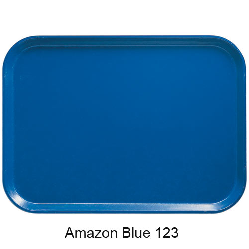 "Cambro Dietary Tray - 14"" x 18"" Amazon Blue 1418D123 2"