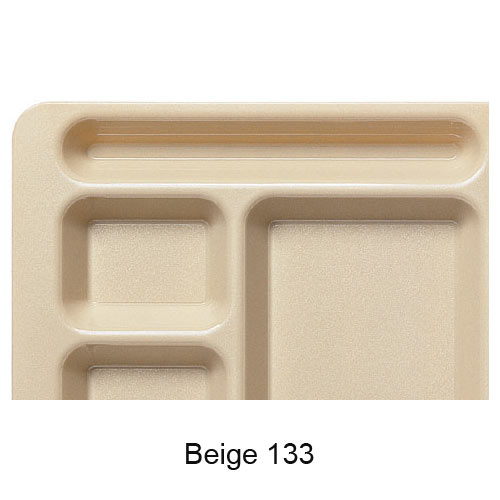 Cambro Polycarbonate School Compartment 2 X 2 Tray -  Beige 915CW133 2