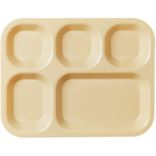 Cambro Camwear Correctional 5 Compartment Tray -  Beige 14105CW133
