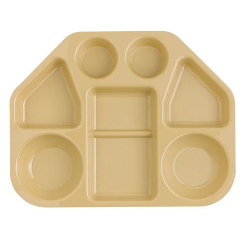 Cambro Camwear Trapezoid 7 Compartment Tray -  Beige 14187TRCW133