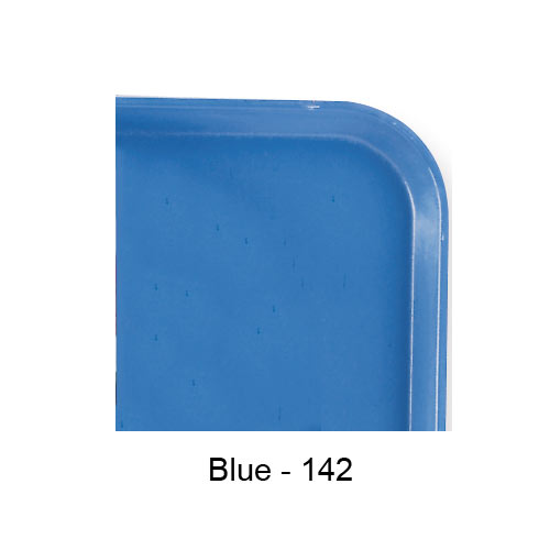"Cambro Rectangular Camlite Tray - 15"" x 20 1/4"" Blue 1520CL142 2"