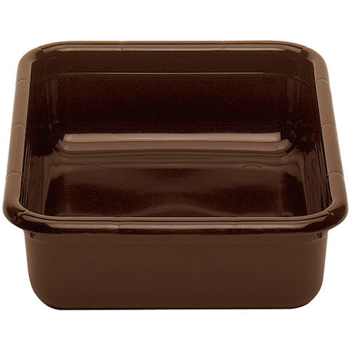 "Cambro Poly Cambox® Flat Bottom 15"" x 20"" - Dark Brown 1520CBPF131"