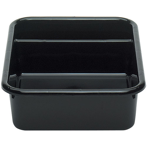 Cambro Poly Cambox® 2 Compartment Bus Box  - Black 1621CBP110
