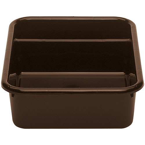 Cambro Poly Cambox® 2 Compartment Bus Box  - Dark Brown 1621CBP131