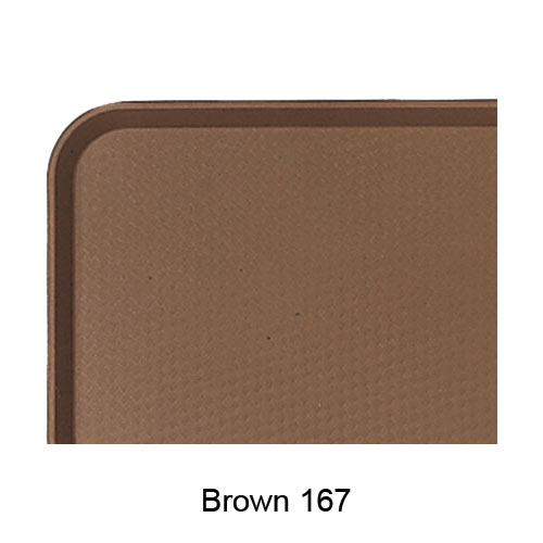 "Cambro Fast Food Tray - 11 7/8"" x 16 1/8"" Brown 1216FF167"