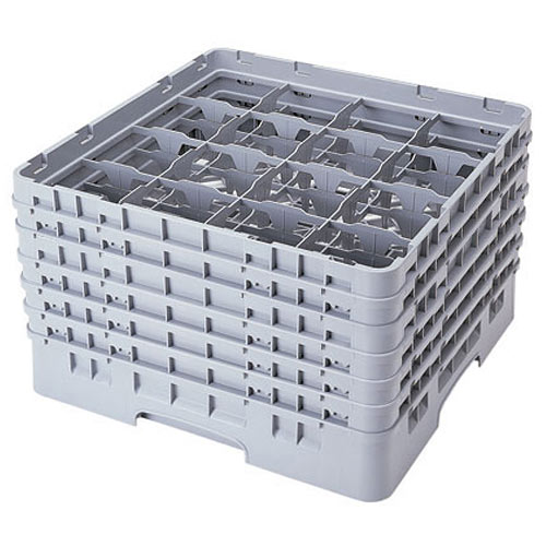 "Cambro Full Size Camrack Glass Rack - 16 Compartment - 11 3/4"" H 16S1114"
